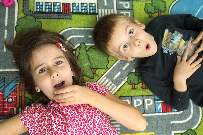 Cheerful siblings